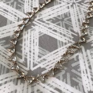 J.Crew Mini Triangle Faceted Glass Necklace